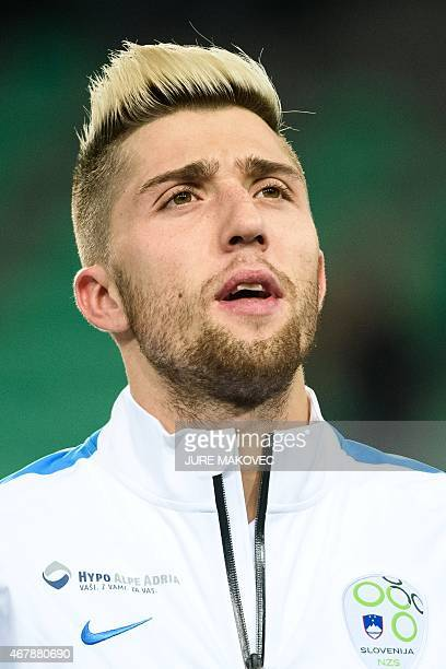 Slovenia's Kevin Kampl looks on before the Euro 2016 qualifying football match between Slovenia and San Marino at the Stozice Stadium in in Ljubljana...