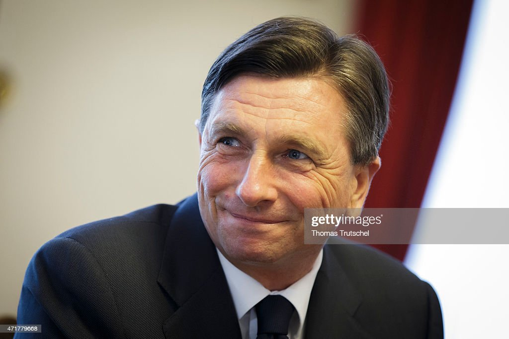 Slovenia's President <a gi-track='captionPersonalityLinkClicked' href=/galleries/search?phrase=Borut+Pahor&family=editorial&specificpeople=2476171 ng-click='$event.stopPropagation()'>Borut Pahor</a> on May 01, 2015 in Ljubljana, Slovenia.