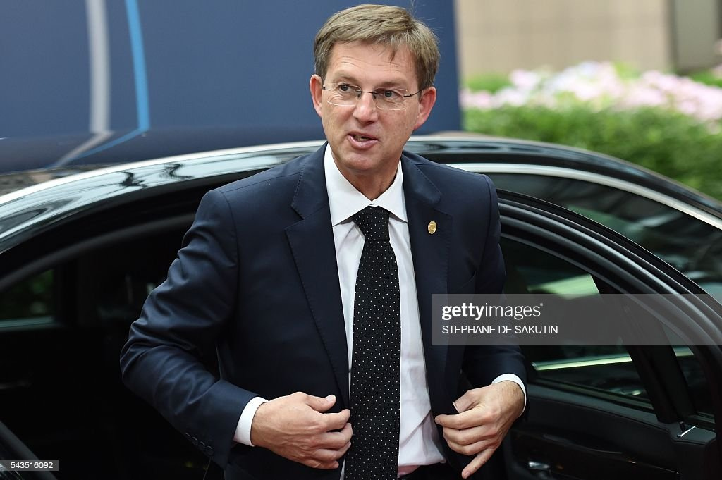 Slovenia's Prime minister Miro Cerar arrives for the second day of an EU - Summit at the EU headquarters in Brussels on June 29, 2016. European Union leaders will on June 29, 2016 assess the damage from Britain's decision to leave the bloc and try to prevent further disintegration, as they meet for the first time without a British representative. / AFP / STEPHANE