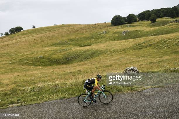 Slovenia's Primoz Roglic rides during the 1815 km ninth stage of the 104th edition of the Tour de France cycling race on July 9 2017 between Nantua...