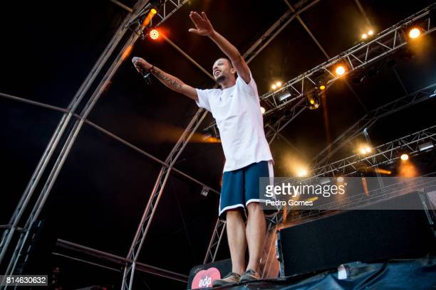 Slow J performs on EDP stage at day 2 of Super Bock Super Rock festival on July 14 2017 in Lisbon Portugal