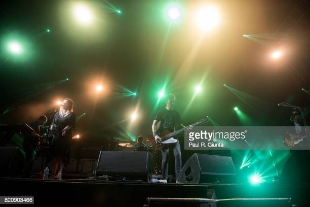 Slowdive performs on stage during Day 1 of FYF Fest 2017 on July 21 2017 in Los Angeles California
