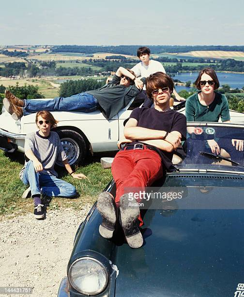 Slowdive photographed in 1991