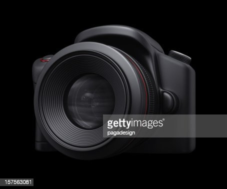 slr camera in shadow : Stock Photo