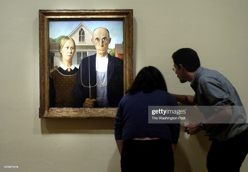 PH/gothic date 3/06/06 photographer Katherine Frey/The Washington Post neg# freyk 178017 Renwick Gallery Washington DC The painting 'American Gothic'...