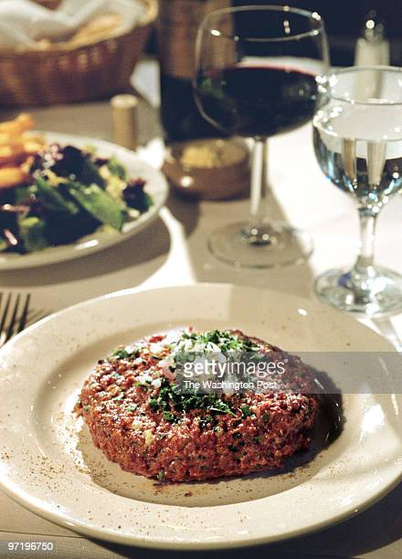 WK/Tartare We photograph a French version of Steak Tartare at Les Halles Restaurant in Washington DC ORG XMIT 120822