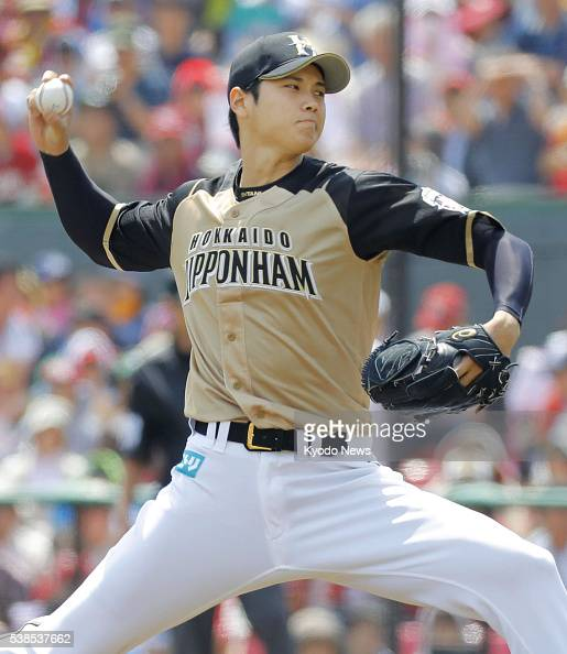 Slugging ace pitcher Shohei Otani picks up his third win of the season after allowing a run in seven innings in a 123 win over the Rakuten Eagles at...