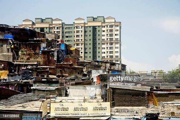 Slum And Residential Buildings At Kandivali Mumbai Bombay Maharashtra India