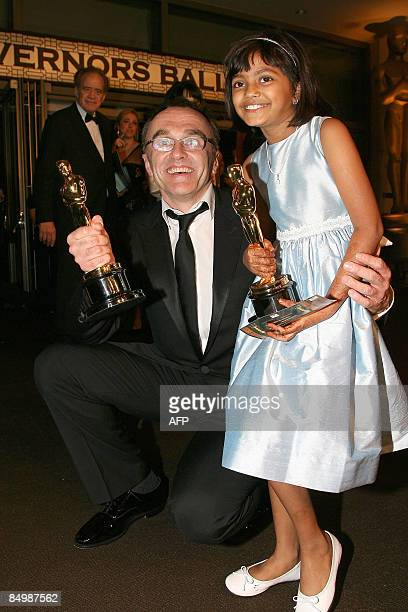 'Slumdog Millionaire' director Danny Boyle and actress Rubina Ali attend the 2009 Governor's Ball in Hollywood California on February 22 2009 after...