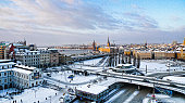 Slussen winter wonderland