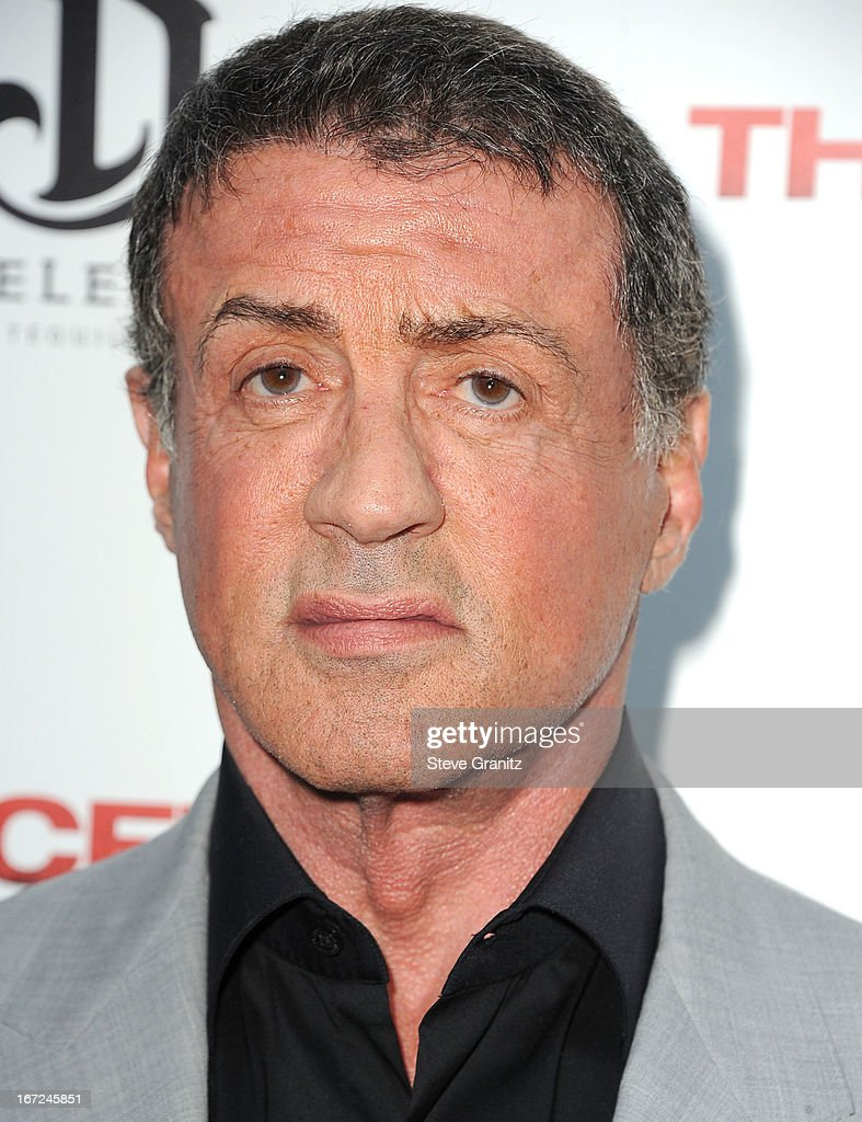 Sly Stallone arrives at the 'The Iceman' Los Angeles Premiere on April 22 2013 in Hollywood California