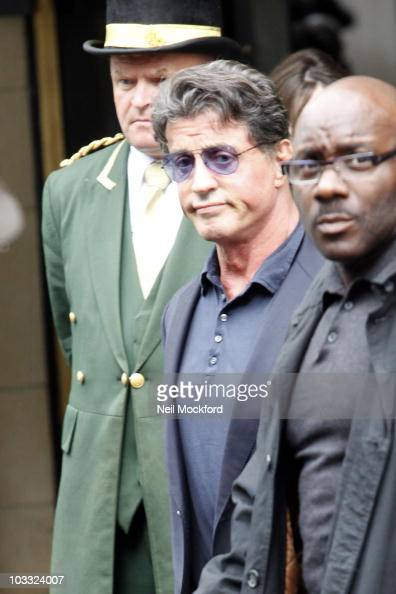 Slyvester Stallone Sighted leaving The Dorchester Hotel on August 10 2010 in London England