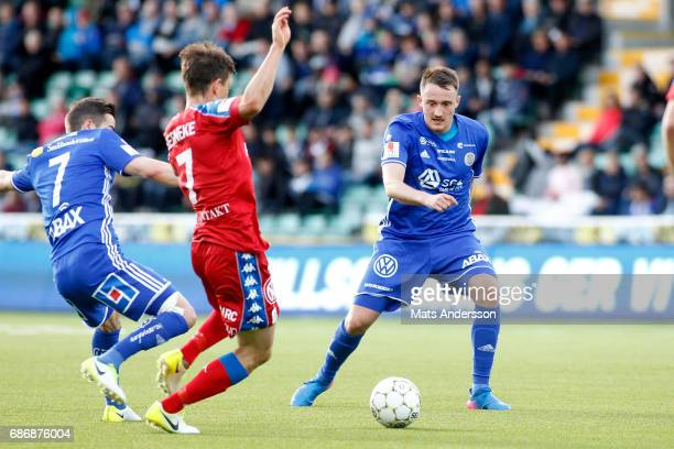 Smajl Suljevic of GIF Sundsvall and Mads Albæk of IFK Goteborg during the Allsvenskan match between GIF Sundsvall and IFK Goteborg at Idrottsparken...