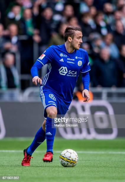 Smajl Suljevic of GIF Sundsvall during the Allsvenskan match between Hammarby IF and GIF Sundsvall at Tele2 Arena on April 23 2017 in Stockholm Sweden
