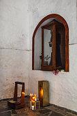 Small altar in a church cloister.