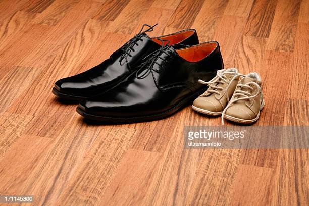 Small and large shoes
