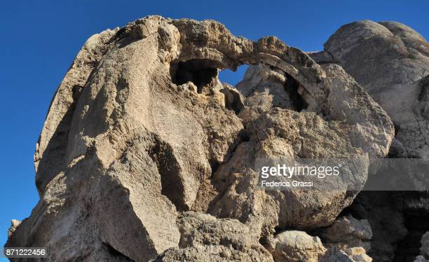 Small Arch Created By Erosion In The Famous Popcorn Rock At Pyramid Lake