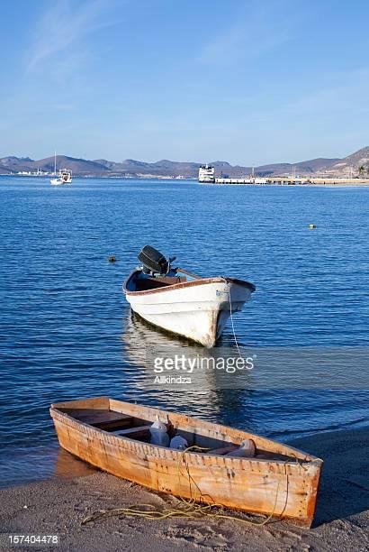 Petit bateau de pêche de baja