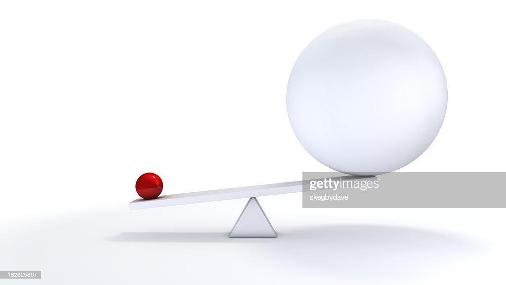 Small ball out balance.
