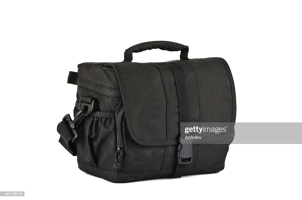 Small, black photo bag : Stock Photo