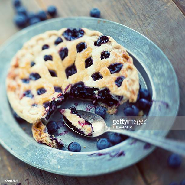 small blueberry pie