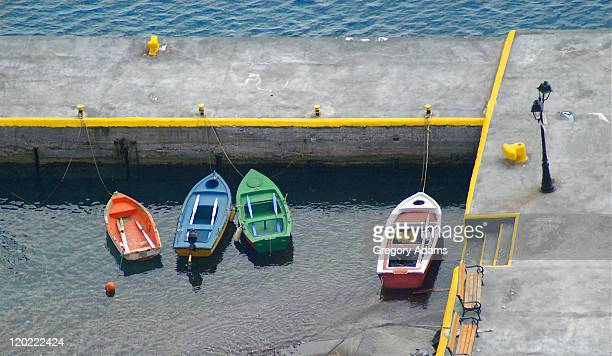 Small boats in Greek harbor
