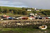 Small boats on  pier Ring, Near Clonakilty South West Ireland