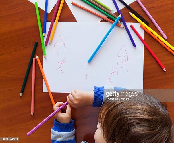 Small boy drawing