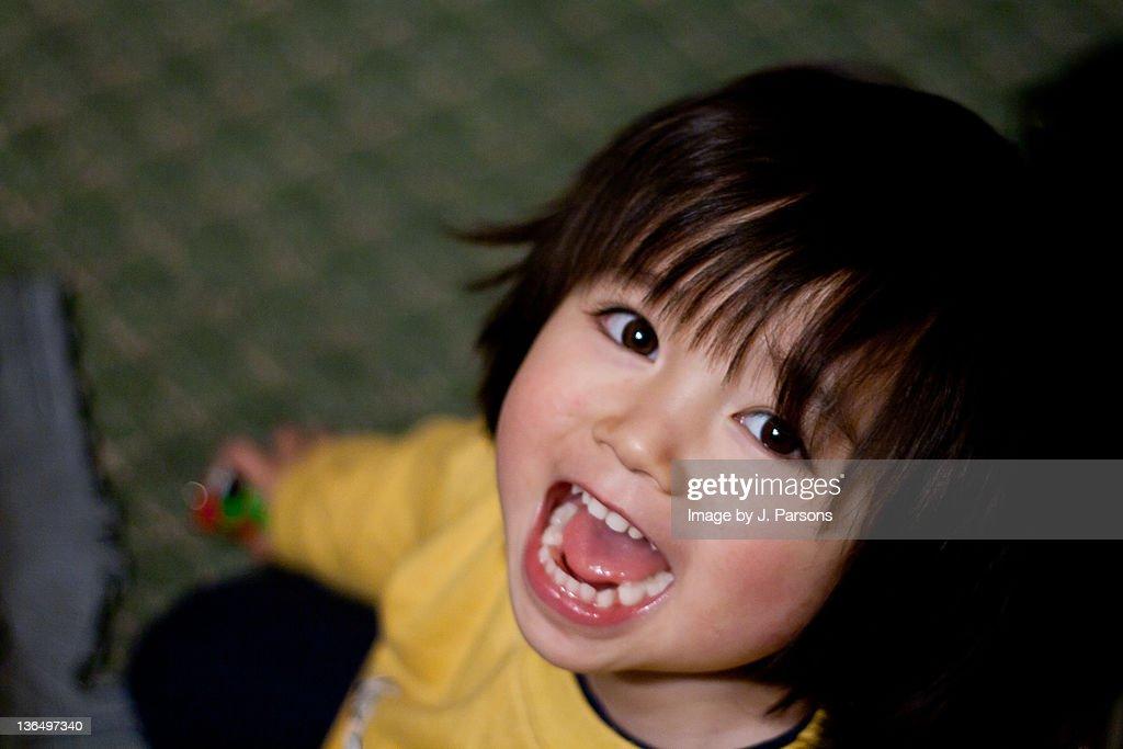 Small boy happy : Stock Photo