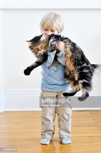 Small Boy, Large Cat