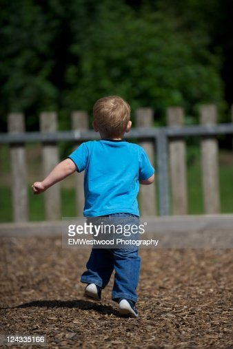 Small boy running