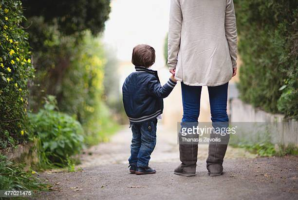 Small boy with his mother