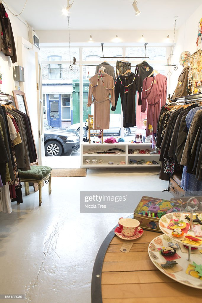 Small business, Clothes and accessories : Stock Photo