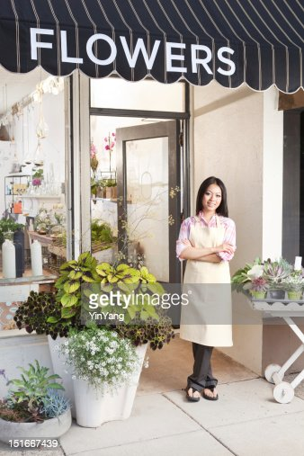 Small Business Florist Flower Shop Entrepreneur Owner Vt : Stock-Foto