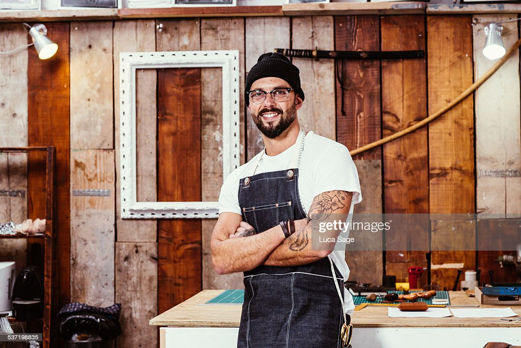Small Business Owner at work : Stock Photo