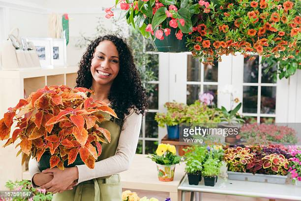 Small Business Owner Florist in Flower Shop Garden Center Store