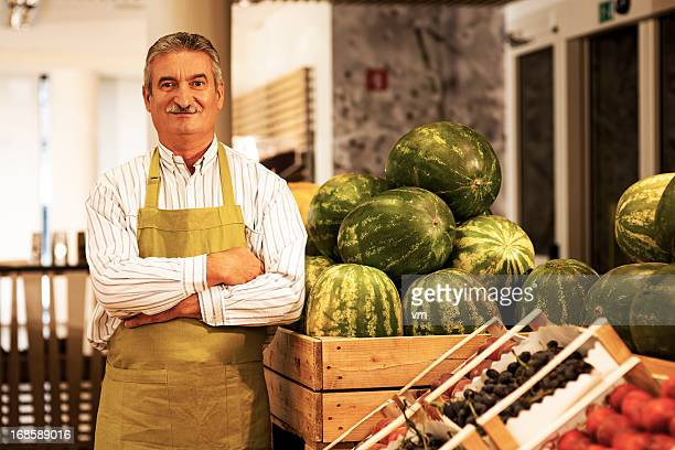 Small Business Owner  In Greengrocer'S Shop