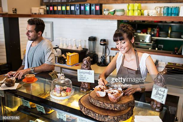 Small business owner in her coffee shop