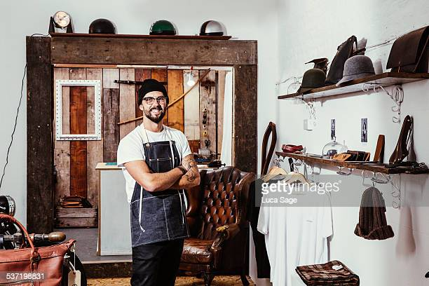 Small Business owner in his shop