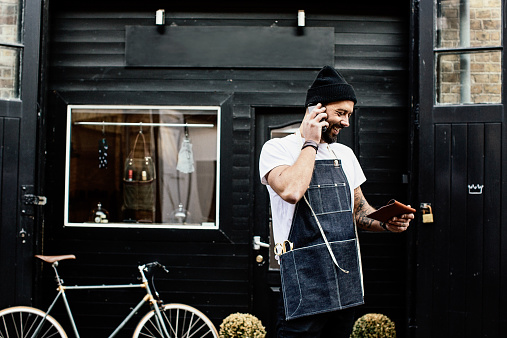 Small Business Owner outside his shop