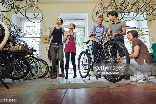 Kleinunternehmen Eigentümer verkaufen Fahrräder