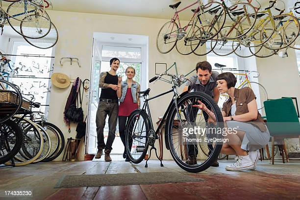 Small business Owner selling  Bicycles