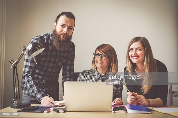 Petite entreprise de démarrage équipe: potrait