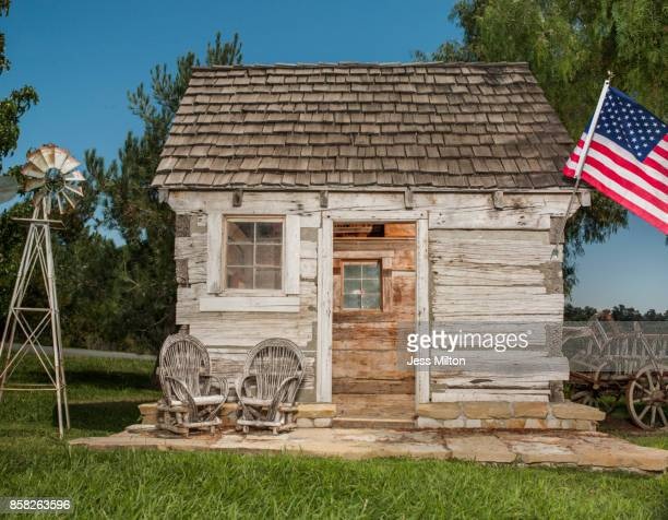 Small Cabin with flag