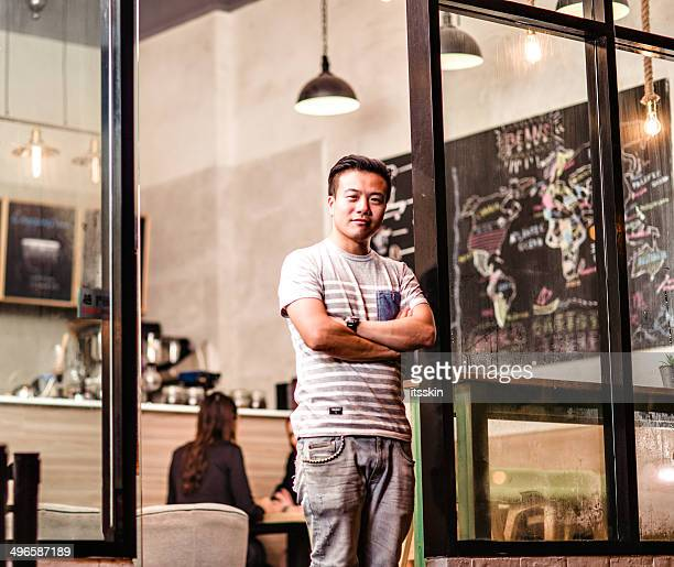 Small cafe business owner in Hong Kong