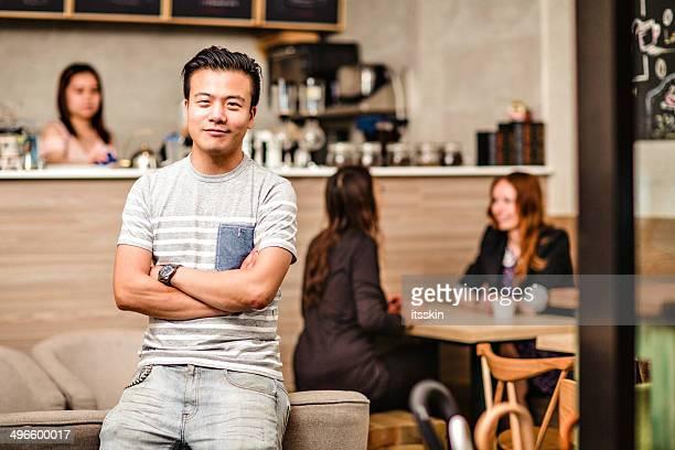Petit Café propriétaire d'affaires à Hong Kong
