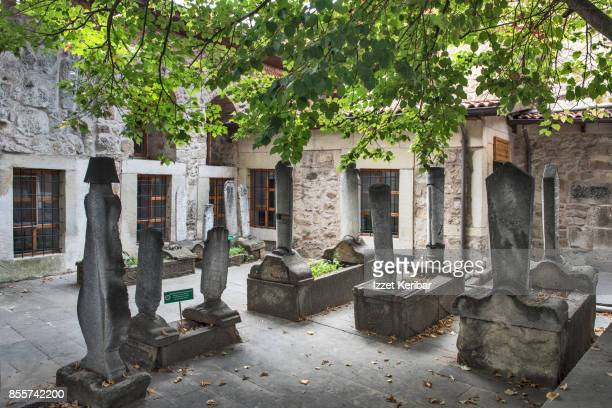 Small cemetary in the courtyard of Yilanli mosque, Kastamonu,Turkey