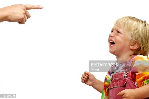 Small child having a tantrum
