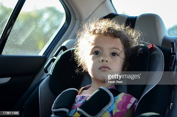 Small child in car seat