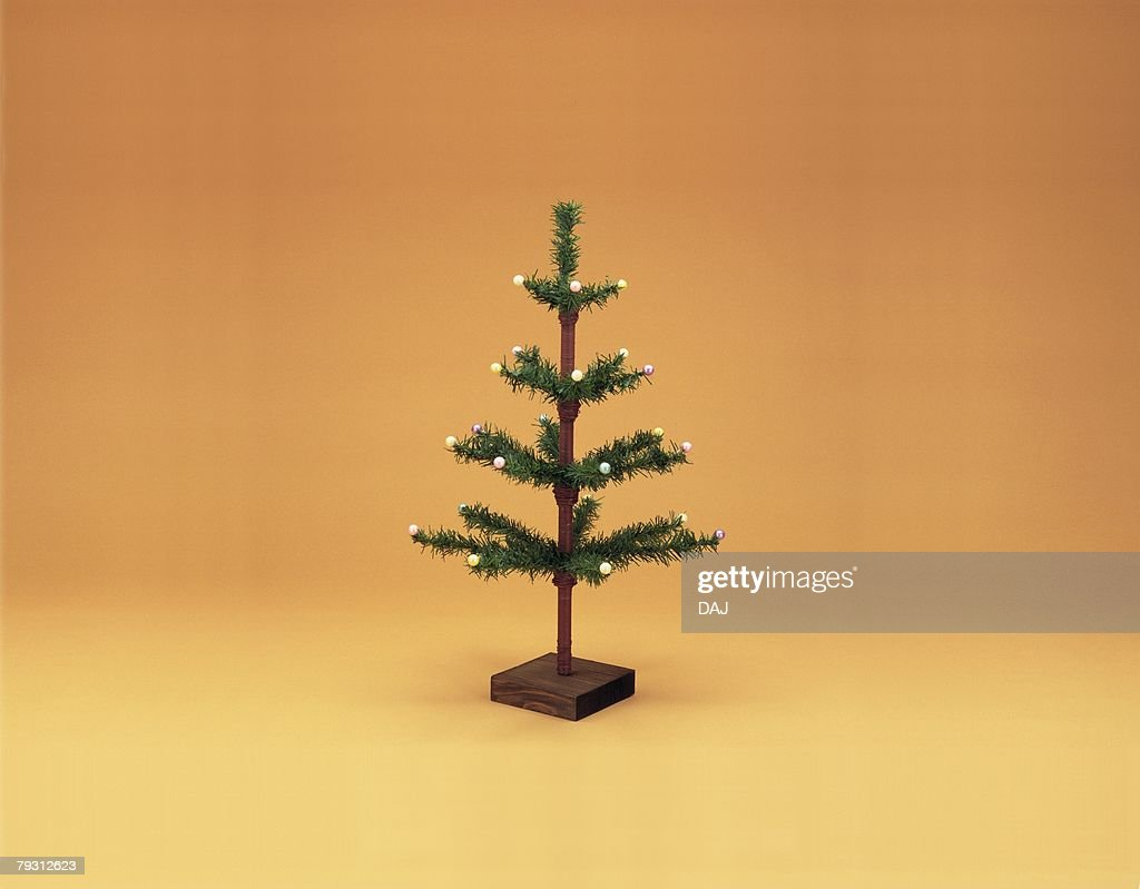 Small Christmas tree, front view : Stock Photo